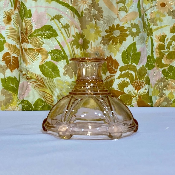 Pretty Little Pink Depression Glass Candle Holder